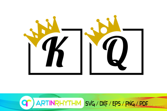 Queen and King Svg, Queen Svg, King Svg Graphic Crafts By artinrhythm