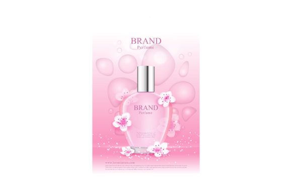 A Cherry Blossom Fragrance for Women Graphic Illustrations By nhongrand