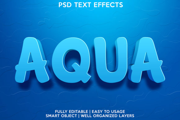 AQUA TEXT EFFECT Graphic Layer Styles By gilangkenter