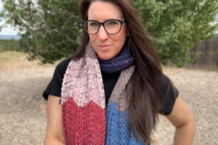 Agate Scarf Knit Pattern Graphic Knitting Patterns By Knit and Crochet Ever After