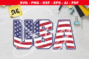 Print on Demand: American Flag USA Grunge   Graphic Crafts By Novart