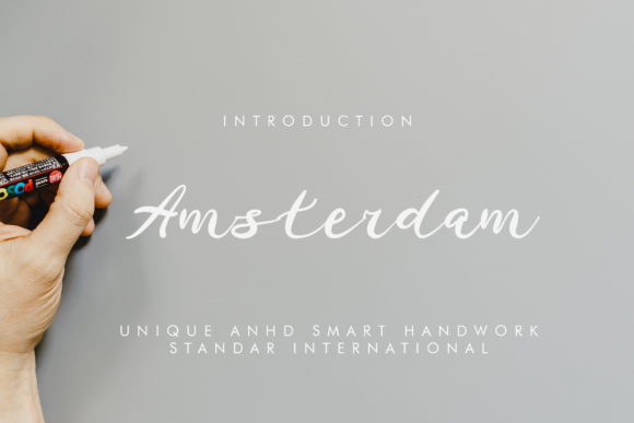 Print on Demand: Amsterdam Script & Handwritten Font By giatstudios