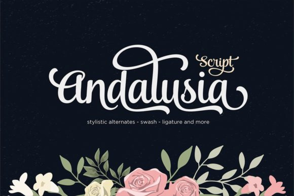 Print on Demand: Andalusia Script Script & Handwritten Font By Seniors Studio