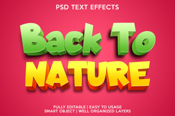Back to Nature Text Effect Graphic Layer Styles By gilangkenter