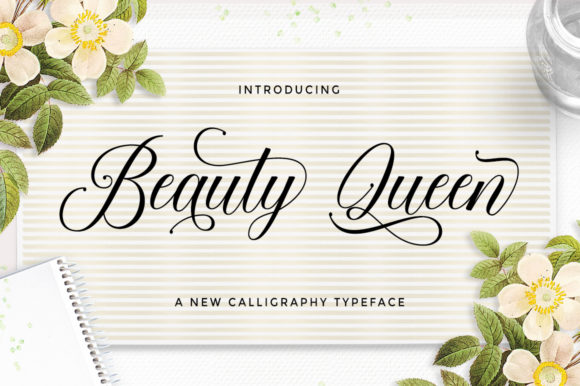 Print on Demand: Beauty Queen Script & Handwritten Font By letterfreshstudio