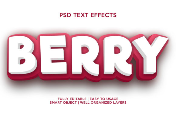 Berry Text Effect Graphic