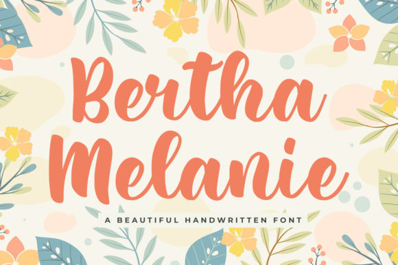 Print on Demand: Bertha Melanie Script & Handwritten Font By creakokunstudio