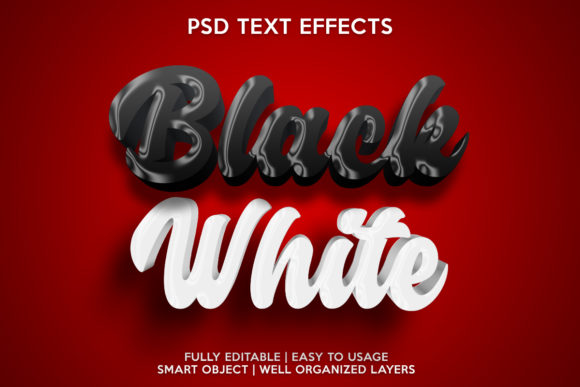 Black White TExt Effect Graphic