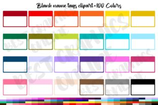 Blank Hello Name Tags Stickers Clipart Graphic Illustrations By bestgraphicsonline