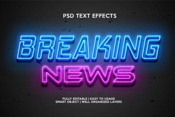 Breaking News Text Effect Graphic Layer Styles By gilangkenter
