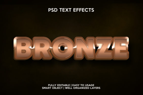 Bronze Text Effect Graphic Layer Styles By gilangkenter