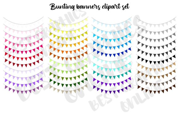 Bunting Banner Clip Art Garland Clipart Graphic Illustrations By bestgraphicsonline