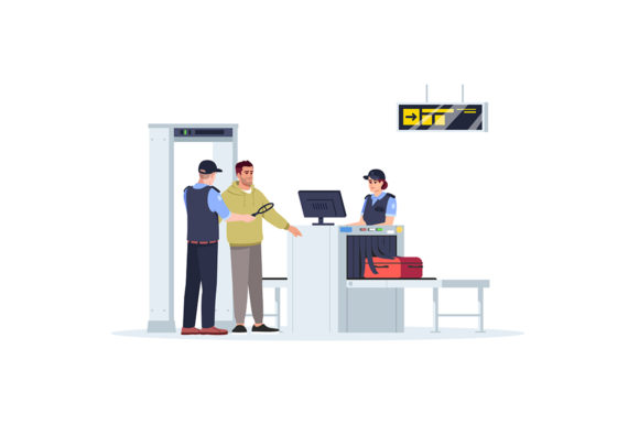 Print on Demand: Check Before Boarding Plane Illustration Graphic Illustrations By bsd studio