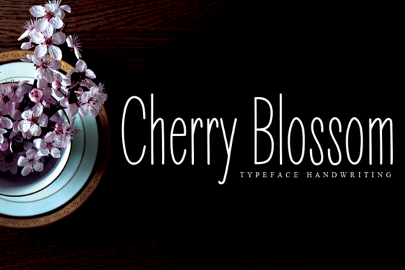Print on Demand: Cherry Blossom Sans Serif Font By flowerletter