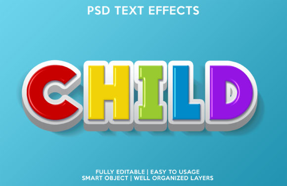Child Text Effect Graphic Layer Styles By gilangkenter