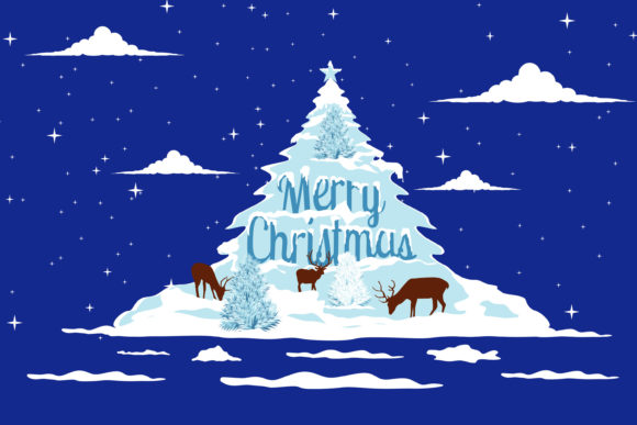 Print on Demand: Christmas Cold Snow Weather Illustration Graphic Illustrations By edywiyonopp