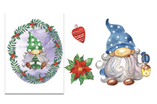 Christmas Gnomes Watercolor Clipart Graphic Illustrations By EvArtPrint 4