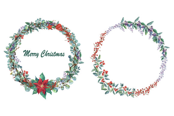 Christmas Gnomes Watercolor Clipart Graphic Preview