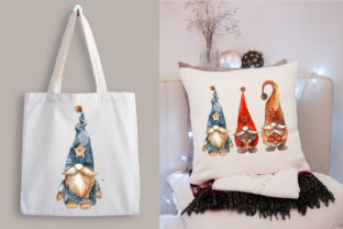 Christmas Gnomes. Watercolor Clipart Graphic Illustrations By KsenyaArt 4