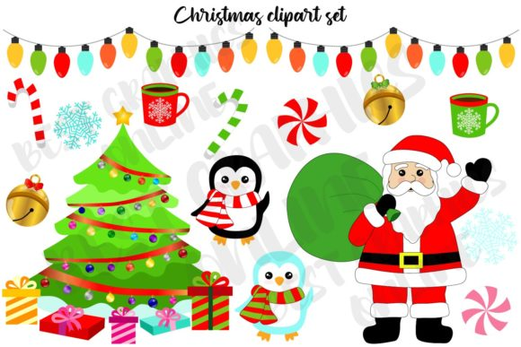 Christmas Holiday Clipart Set Snowman Graphic Illustrations By bestgraphicsonline