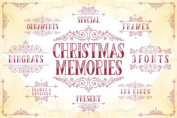 Print on Demand: Christmas Memories Display Schriftarten von Kelik - 7NTypes