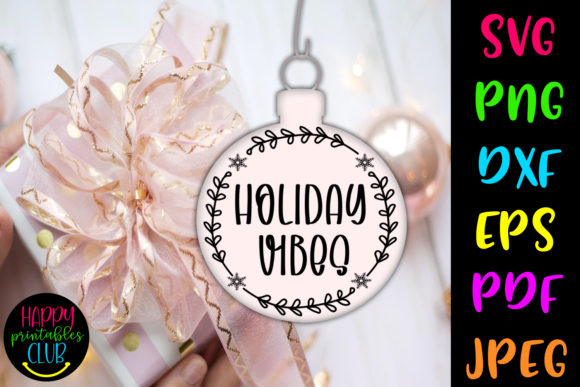 Print on Demand: Christmas Round Ornaments SVG- Holidays Graphic Crafts By Happy Printables Club