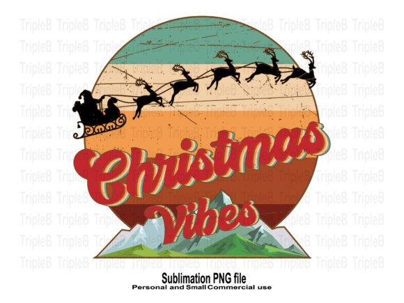 Print on Demand: Christmas Vibes Vintage Sublimation Graphic Crafts By TripleBcraft