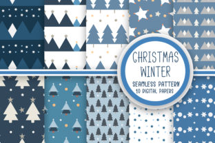 Christmas Winter Seamless Pattern Graphic Patterns By PearlyDaisy