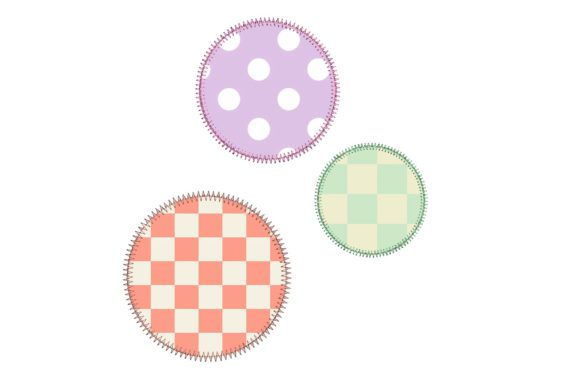 Circle Applique ZigZag Borders Embroidery Design By Sweet Embroidery Designs