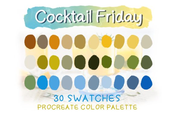 Print on Demand: Cocktail Friday Procreate Color Palettes Graphic Actions & Presets By Duckyjudy