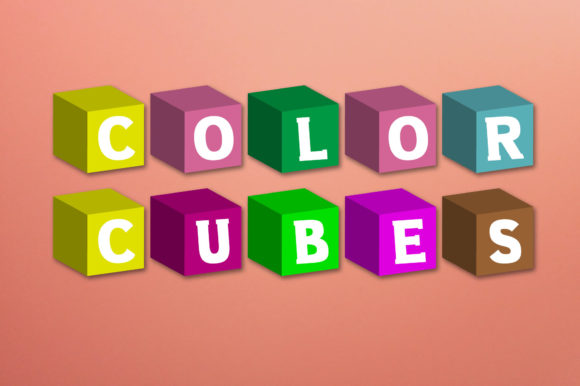 Print on Demand: Color Cubes Color Fonts Font By Vladimir Carrer