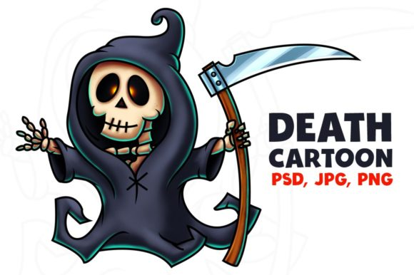 Death Cartoon Character Graphic Illustrations By pixaroma