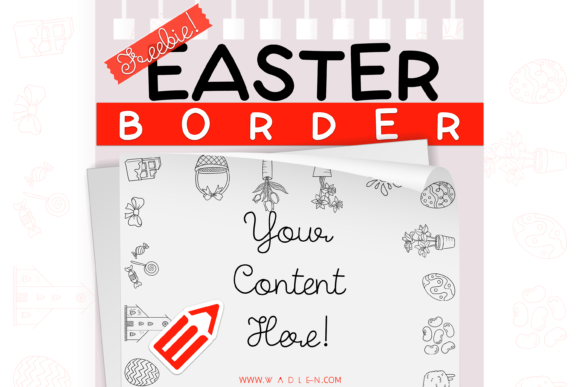 Easter Border Template Graphic Print Templates By WADLEN