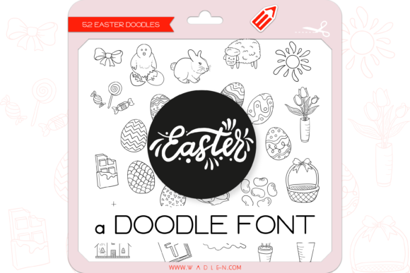 Print on Demand: Easter Dingbats Font By WADLEN