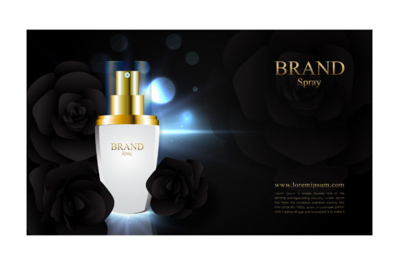 Elegant Black Rose Image for Cosmetic Ad Graphic Illustrations By nhongrand