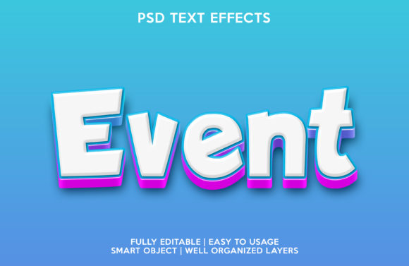 Event Text Effect Graphic