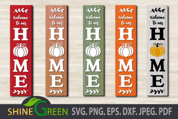 Print on Demand: Fall Pumpkin - Welcome to Our Home Sign Graphic Crafts By ShineGreenArt