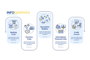 Print on Demand: Financial Crisis Vector Infographic Graphic Infographics By bsd studio