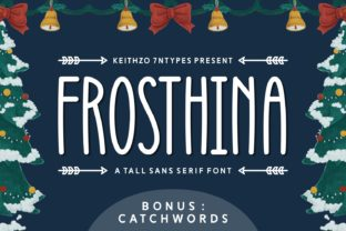 Print on Demand: Frosthina Sans Serif Font By Keithzo (7NTypes)