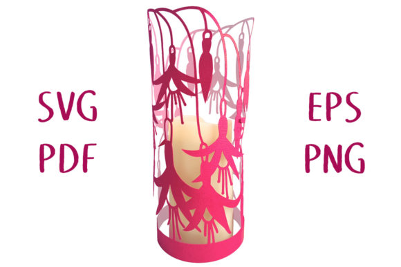 Print on Demand: Fuchsia Flower Lantern Graphic 3D SVG By Nic Squirrell