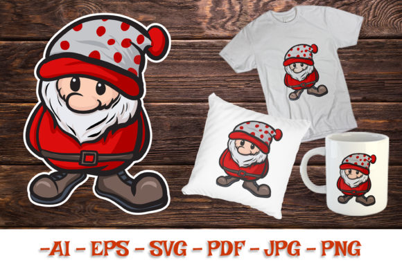 Gnome Illustration SVG Christmas Edition Graphic Illustrations By Rimbu Creative