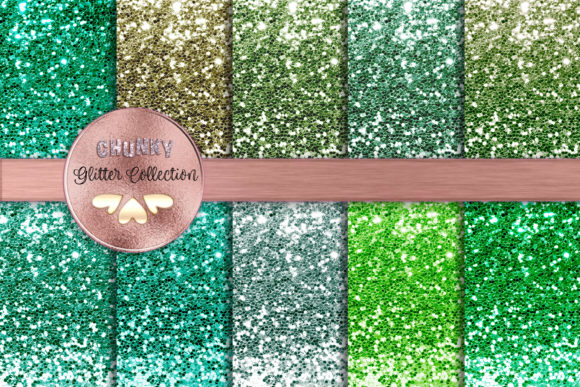 Greens Galore Chunky Glitter Collection Graphic Backgrounds By AM Digital Designs
