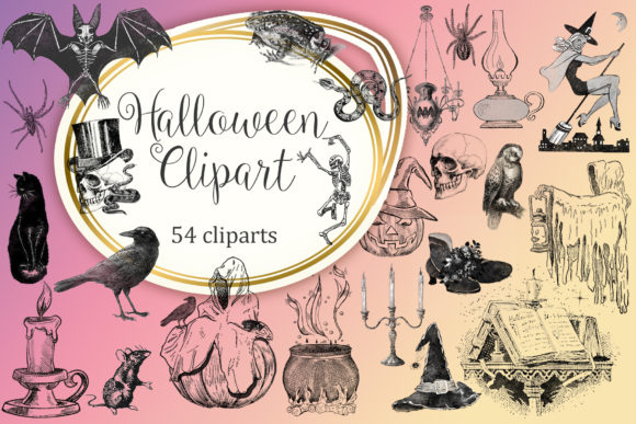 Halloween Clipart Graphic Illustrations By Tara Artisan