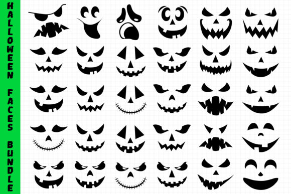 Halloween Faces Bundle Graphic Crafts By All About Svg