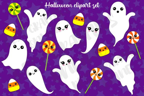 Halloween Clipart Ghost Candy Corn Sweet Graphic Illustrations By bestgraphicsonline
