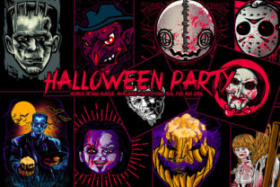 Print on Demand: Halloween Party Design Bundle Graphic Illustrations By fluffyartstudio