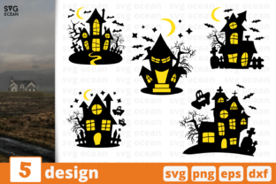 Haunted House SVG Bundle Graphic Crafts By SvgOcean