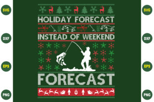 Print on Demand: Holiday Forecast Christmas Graphic Crafts By BDB_Graphics