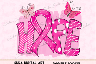 Print on Demand: Hope Cancer Ribbon Sublimation Graphic Illustrations By Suda Digital Art