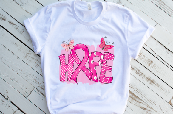 Hope Cancer Ribbon Sublimation Graphic Download